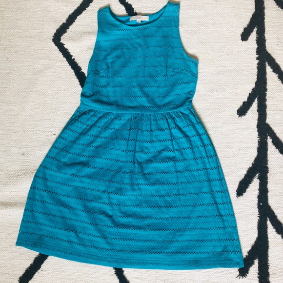 LOFT Dresses & Skirts - Loft Sleeveless Teal Dress - S